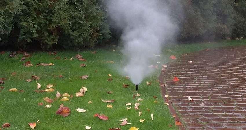 Продувка сжатым воздухом системы автоматического полива